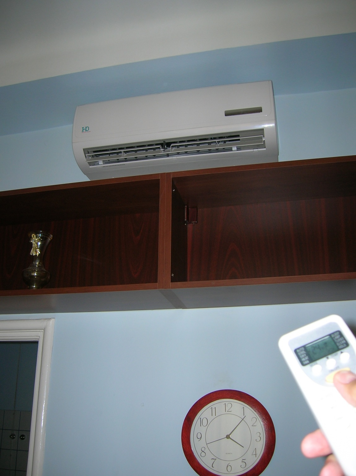 the brand-new air conditioner