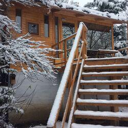 Tél a Mohatetős Lombházban