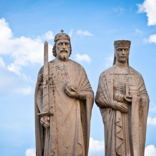 I. István király és Gizella királyné szobra | Veszprém