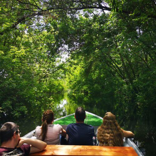 Csónakázás a Tisza-tavon Molnár Balázzsal