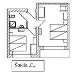 """Pokój 4-osobowy Studio """"C"""" (możliwa dostawka)"""