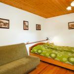 Apartament 5-osobowy na piętrze z widokiem na ogród z 2 pomieszczeniami sypialnianymi
