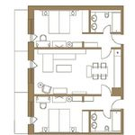 Standard  Apartmán pre 6 os. s 3 spálňami