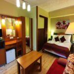 Camera dubla confort la parter (se poate solicita pat suplimentar)