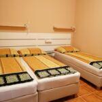Udvarra néző légkondicionált háromágyas szoba (pótágyazható)
