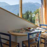 2-Zimmer-Apartment für 4 Personen Obergeschoss mit Aussicht auf die Berge (Zusatzbett möglich)