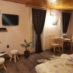 Apartament la etaj cu balcon cu 1 camera pentru 2 pers. (se poate solicita pat suplimentar)