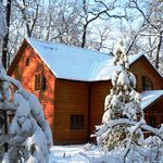 Deluxe весь дом 4 местный деревянный дом 3 спальных пространств (с дополнительной кроватью)