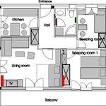 Emeleti Superior 3 fős apartman 2 hálótérrel