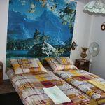 Izba s manželskou posteľou s výhľadom do záhrady v podkroví