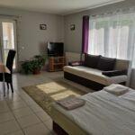 Apartman s balkónem s manželskou postelí s 1 ložnicí v přízemí (s možností přistýlky)