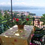 Apartament 3-osobowy z balkonem z widokiem na morze z 1 pomieszczeniem sypialnianym (możliwa dostawka)
