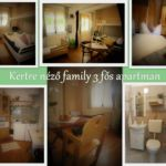Kertre néző Family 3 fős apartman 1 hálótérrel (pótágyazható)