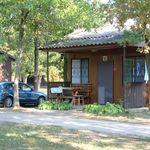 Tourist Hütte mit Aussicht auf den Park