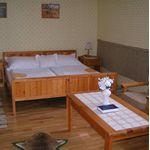 Camera tripla cu cada cu vedere spre padure