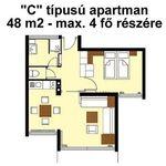 """Standard """"C"""" apartman za 4 osoba(e) sa 2 spavaće(om) sobe(om)"""