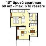 """Apartament 6-osobowy Standard """"B"""" z 3 pomieszczeniami sypialnianymi"""