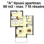 """Apartament 7-osobowy Standard """"A"""" z 3 pomieszczeniami sypialnianymi"""