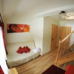 Apartament cu grup sanitar cu vedere spre gradina cu 1 camera pentru 3 pers.