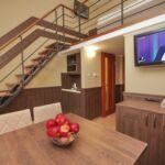 Emeleti galériás  4 fős apartman 1 hálótérrel
