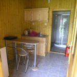 Domek drewniany 4-osobowy Rodzinny ze wspólną łazienką (możliwa dostawka)