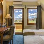Camera twin cu aer conditionat cu vedere spre munte