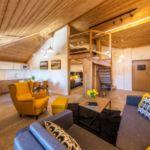Penthouse 3-Zimmer-Apartment für 6 Personen mit Aussicht auf die Berge