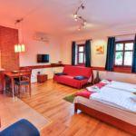 Teraszos Studio 2 fős apartman 1 hálótérrel (pótágyazható)