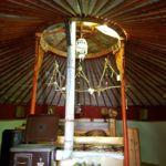 Kertre néző Jurta 2 fős bungalow