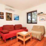 Apartament cu aer conditionat cu vedere spre mare cu 1 camera pentru 3 pers. K-9472
