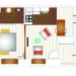 Studio Design 2 fős apartman 1 hálótérrel