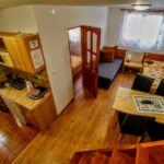 Emeleti 4 fős apartman 2 hálótérrel (pótágyazható)