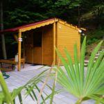 Cabana cu terasa cu vedere spre munte pentru 4 pers. (se inchirieaza doar integral)