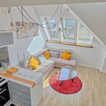 Apartament 6-osobowy na poddaszu Deluxe z 3 pomieszczeniami sypialnianymi