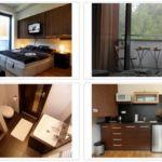 Studio  Apartman s manželskou postelí s 1 ložnicí (s možností přistýlky)
