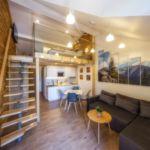2-Zimmer-Apartment für 4 Personen Obergeschoss mit Aussicht auf die Berge