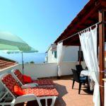 Apartament 5-osobowy z tarasem z widokiem na morze z 3 pomieszczeniami sypialnianymi
