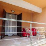 Apartament la parter cu balcon cu 1 camera pentru 4 pers.