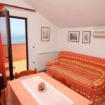 Apartament 4-osobowy z klimatyzacją z widokiem na morze z 2 pomieszczeniami sypialnianymi A-6997-b
