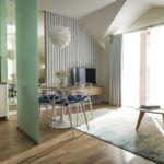 Apartament deluxe cu terasa cu 2 camere pentru 4 pers.