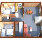 Apartament deluxe cu 2 camere pentru 6 pers.