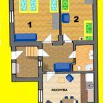 Apartament family la parter cu 2 camere pentru 5 pers. (se poate solicita pat suplimentar)