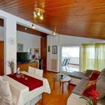 Kertre néző tengerre néző 6 fős apartman 3 hálótérrel