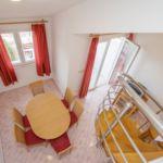 Apartament cu aer conditionat cu vedere spre mare cu 3 camere pentru 5 pers.