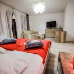 Apartament 4-osobowy Przyjazny podróżom rodzinnym z widokiem na góry z 2 pomieszczeniami sypialnianymi (możliwa dostawka)