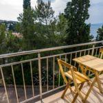 Apartament cu aer conditionat cu vedere spre mare cu 3 camere pentru 8 pers. A-15665-a