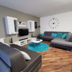Apartament design la etaj cu 3 camere pentru 8 pers.