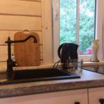 Domek drewniany 6-osobowy Przyjazny podróżom rodzinnym z łazienką