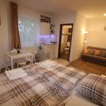 Apartament cu gradina cu panorama cu 1 camera pentru 2 pers. (se poate solicita pat suplimentar)