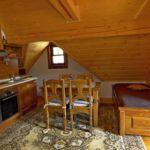 Apartament 4-osobowy na poddaszu z 1 pomieszczeniem sypialnianym (możliwa dostawka)